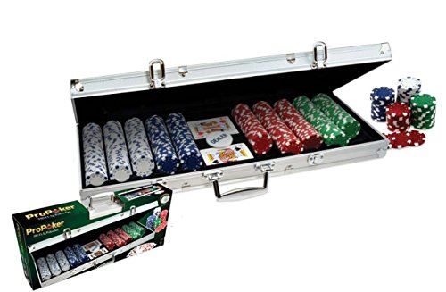 ProPoker 500 Chip Set in Aluminum Case (Pro Poker Set)