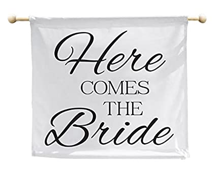 elegant signs here comes the bride sign here comes the bride banner ring bearer sign ring