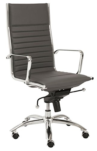 Eva Aluminum Group Ribbed High Back Management Office Chair - (Aluminum Group Chair)