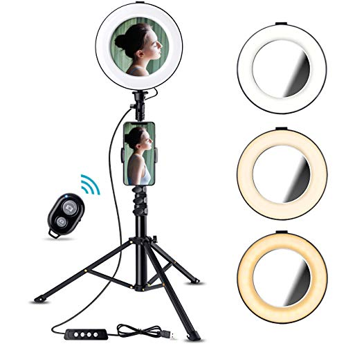 """8"""" Selfie Ring Light with Tripod Stand & Cell Phone Holder for Live Stream/YouTube Videos"""