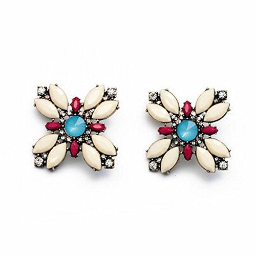 Elakaka Women's Exquisite Diamond Flowers Earrings (Katy Perry Costumes Australia)