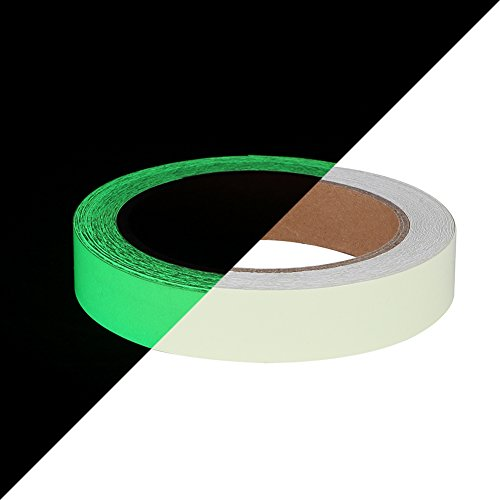 (Glow in The Dark Tape 30 ft x 1 inch,Fluorescent Tape, Premium Quality Non-Toxic, 12 Hour Glow Waterproof Stickers for Stairs,Walls,Steps and Exit Sign)