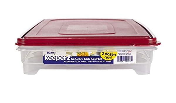 BUDDEEZ Soporte para Huevos para refrigerador, Bandeja de Huevos ...