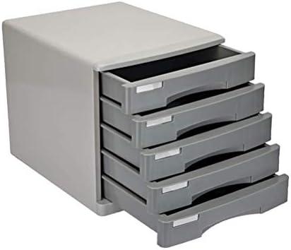 Wtbew-u Archivadores Planos, Archivadores De Metal De 5 Capas con Caja De Almacenamiento con Cajones con Cerradura Segura: Amazon.es: Hogar