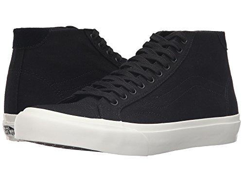 Vans Court Mid Canvas Mid Tops Sneakers Unisex (edium / 7 D(M) US, Black)
