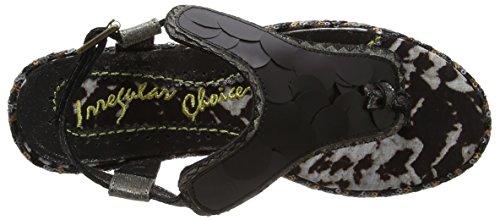 Irregular Choice Cocoa Loco - Sandalias de Talón Abierto Mujer Black (Black)
