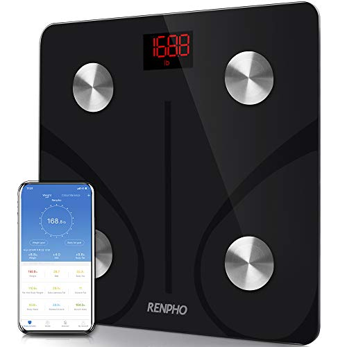 RENPHO Body Fat Scale Bluetooth, Digital Body Weight Bathroom Scales Weighing Scale with Smart BMI Scale, Body…