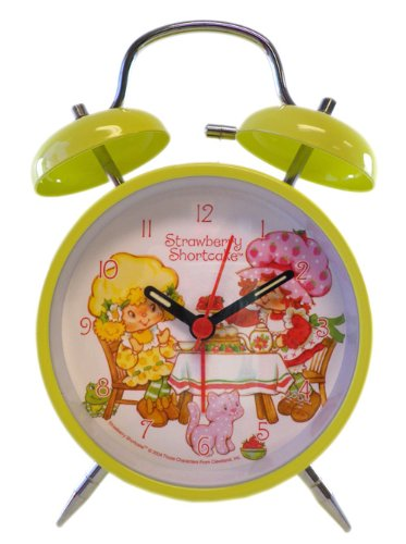 Strawberry Shortcake Twin Bell Alarm Clock (Yellow)