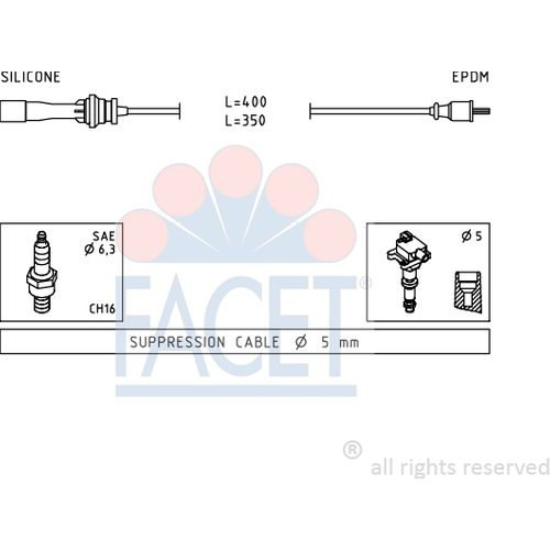 Facet 4.9729 Ignition Leads Kit: