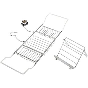 Amazon Com Taymor Aromatherapy Bathtub Caddy Chrome