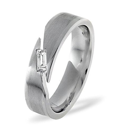 Mens 0 07ct H Si Diamond 18k White Gold Dress Ring Amazon Co Uk