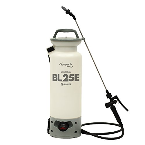 (BL25E Battery Sprayer - 12V Lithium-ion, Sanitation, Bleach & Carpet Cleaning, 2 Gallon)
