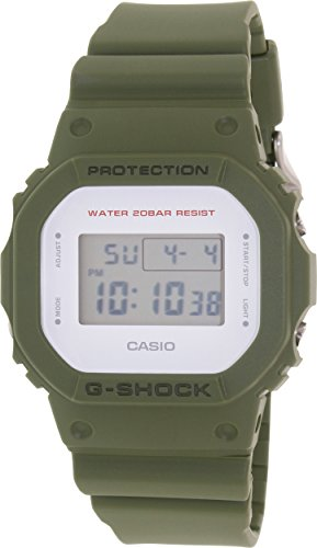 G Shock Unisex DW 5600M 3CR Green Watch