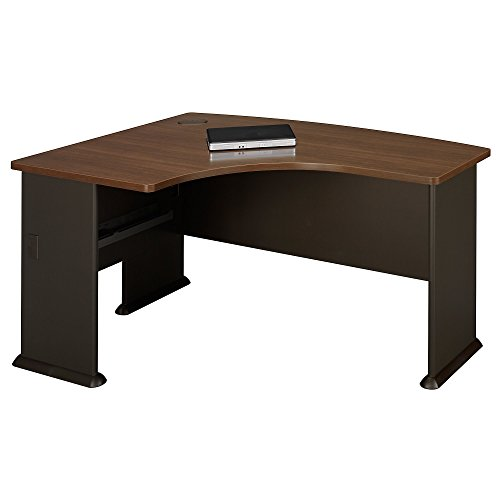 Bush Business Furniture Series A Collection 60W x 44D Left Hand L-Bow Desk in Sienna Walnut