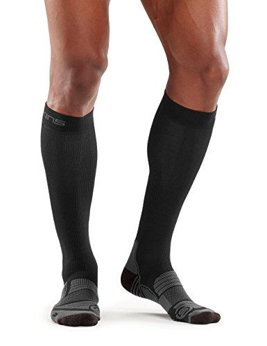 (SKINS Essentials Compression Socks, Black/Pewter, X-Small)
