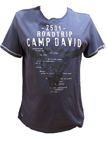 CAMP DAVID T-SHIRT GLOBAL TRAVELLER II CHARCOAL CCG-1703-3136 L