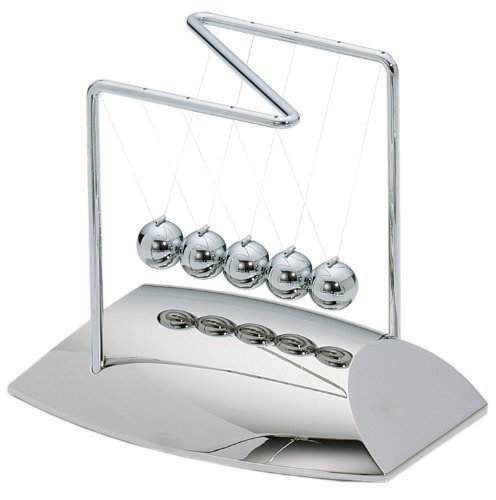 ActionFly Newtons Cradle Balance Balls Physics Pendulum Science Desk Office Classic Toy by ActionFly