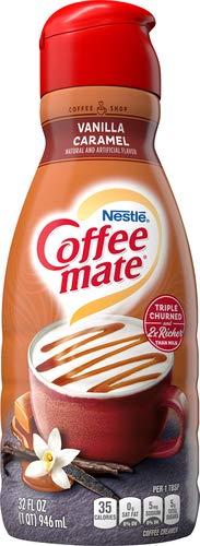 COFFEE MATE Vanilla Caramel Liquid Coffee Creamer 32 fl. oz. Bottle Non-dairy, Lactose Free, Gluten Free Creamer