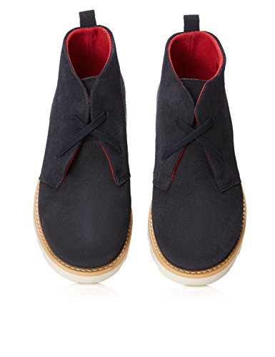 Navy en RED Bleu Garçon Daim Bottines WAGON 8Zwwq14a