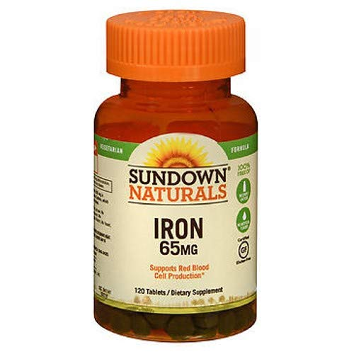 Sundown Naturals Iron 65 mg Tablets 120 Tablets (Pack of ()
