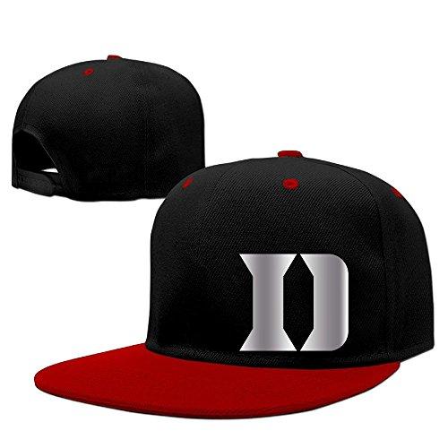 Duke Blue Devils Platinum Logo Baseball Snapback Hat Red