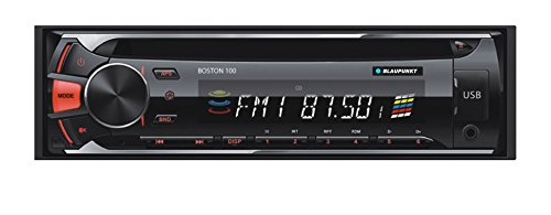 Blaupunkt BOSTON 100 CD, MP3 and FM Car Stereo Receiver with USB, SD and AUX Port and Remote Control (100 Compact Usb)