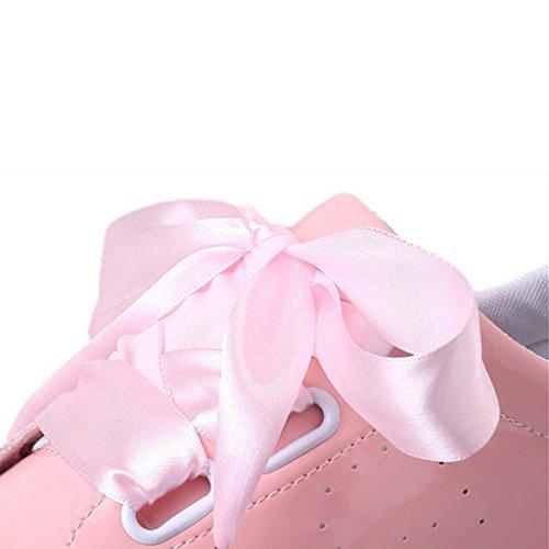 Chers Temps Femmes Pu Chaussures De Sport À Lacets Rose