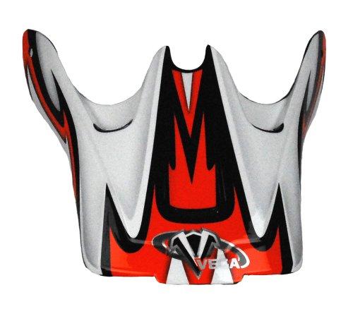 Vega Viper Junior Off-Road Helmet Visor with KTM Volt Graphic (Orange)