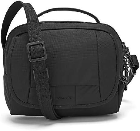 Pacsafe Metrosafe LS140 Anti-Diebstahl kleine Nylon Umhängetasche für Damen, Schultertasche mit Diebstahlschutz, Tasche mit Sicherheits-Features - 5 L Uni, Schwarz/Black