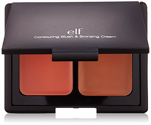 e.l.f. Contouring Blush and Bronzing Cream, St. Lucia, 0.34 Ounce (Best Bronzer For Contouring Olive Skin)