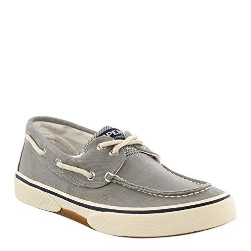 Sperry Mens Halyard 2-Eye Sneaker, SW Grey, 13