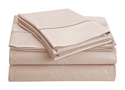 Chateau Home Collection 800-Thread-Count Egyptian Cotton Deep Pocket Sateen Weave Sheet Set (QUEEN, Pale Lavender)