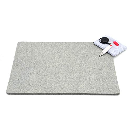 - Glaciart One Wool Pressing Mat Quilting Ironing Pad - Mega (19x26) Easy Press Wooly Felted Iron Board for Quilters w/Bonus Notions: Scissors, Tape &Pouch | Large Organic Table Top Padded Felt Surface