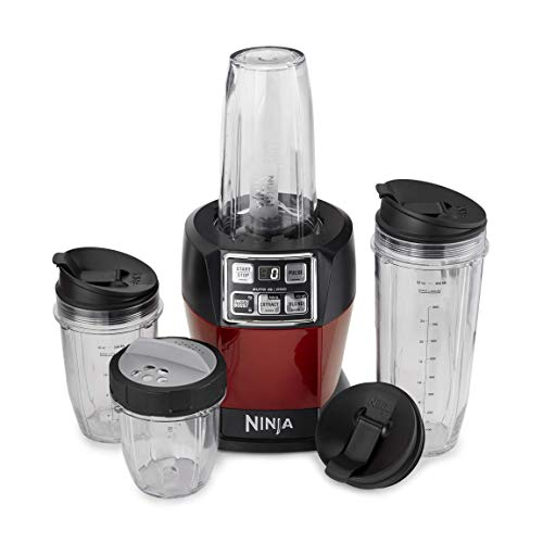 Nutri Ninja Auto iQ Pro Complete Blender w/Cups, Red (Manufacturer Refurbished) -