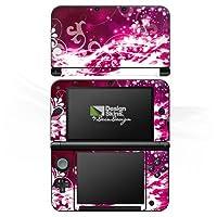 DeinDesign Nintendo 3 DS XL Case Skin Sticker aus Vinyl-Folie Aufkleber Abstrakt Glitzer Pink