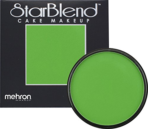 [Mehron Makeup StarBlend Cake Makeup GREEN – 2oz] (Clown Around Makeup Kit)