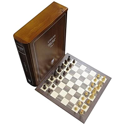 Wood Book Case Classic Board Game Set Collection - Volume 1 of 12 - Chess