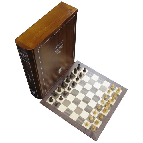 Wood Book Case Classic Board Game Set Collection - Volume 1 of 12 - (Chess Board Wooden Book)