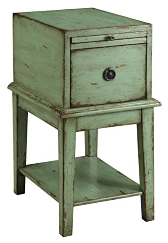 Treasure Trove Accents Chairside Chest, Weathered and Distressed Green ()