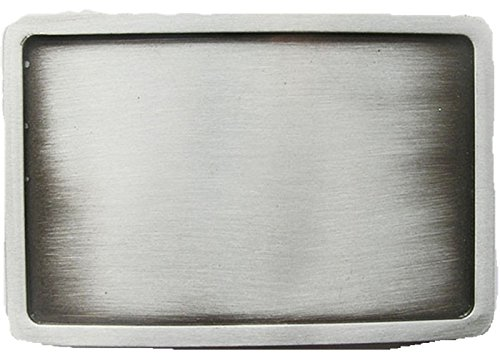 Classic New Rectangle Blank Belt Buckle Custom Belt Buckle (Antique Silver Plated Color)