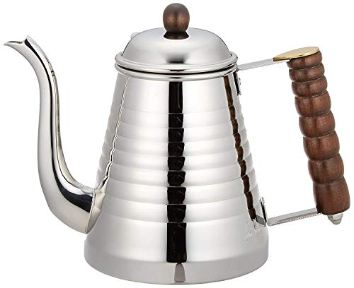 Kalita 52073 Wave 1L Stainless Steel Drip Kettle, Pot, 1000, Silver