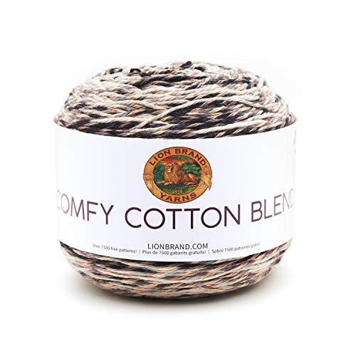 Lion Brand Yarn 756-721 Comfy Cotton Blend Yarn, Cool Night (1 ()
