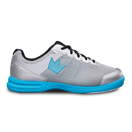 Brunswick Bowling Products Mens Fuze Bowling Shoes- M US, Silver/Sky Blue, 11