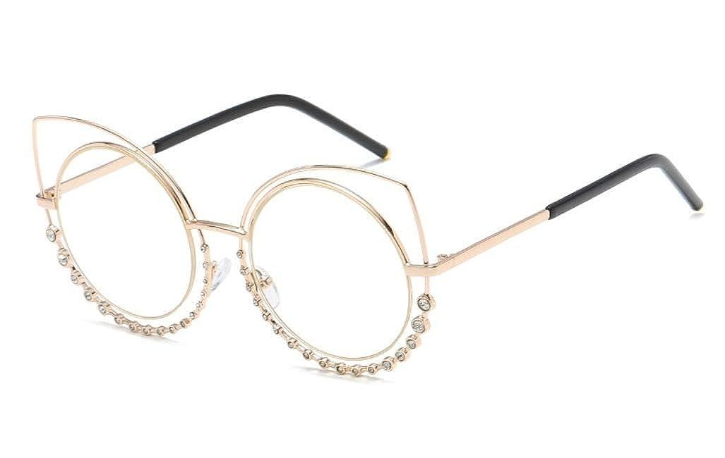 Amazon.com: Chezi Crystal Accent - Gafas de doble borde con ...