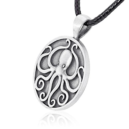 Dan's Jewelers Cthulhu Octopus Pendant Necklace, Fine Pewter Jewelry by Dan's Jewelers (Image #1)