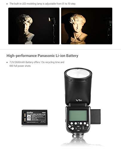 Godox V1 Flash V1-C Round Head Flash TTL On-Camera Round Flash Speedlight
