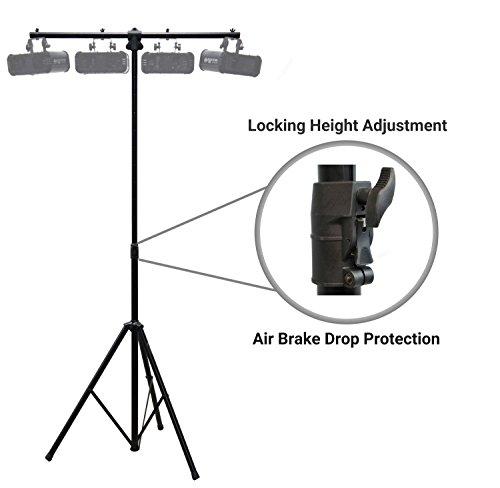 (Harmony Audio HA-TBARA Pro Audio DJ Lighting Tripod & T-Bar Light Stand with Air Brake Drop Cushion)