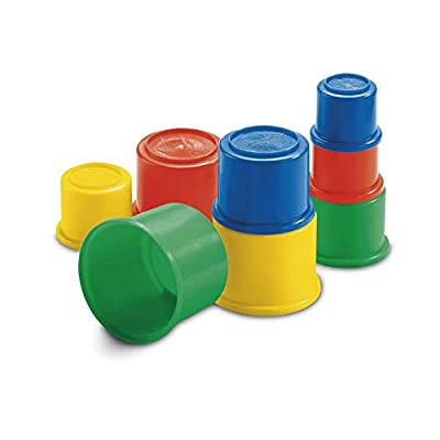 Fisher-Price 8 Bulding Beakers Stacking Blocks Cups: Toys & Games
