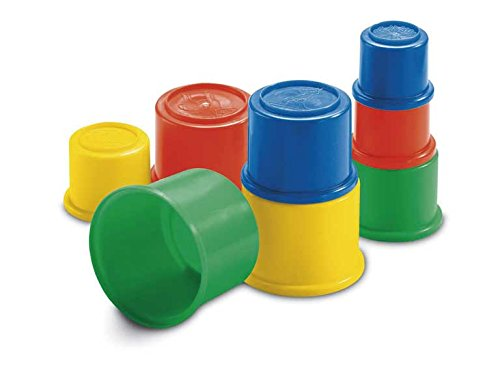Fisher-Price 8 Bulding Beakers Stacking Blocks Cups ()
