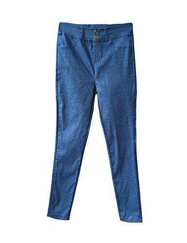 依存する気分が悪い甘美な(ドレスヌー) Dressnu レディース ウェストゴムとベルトループ付き 無地 ロング パンツ ブルー M